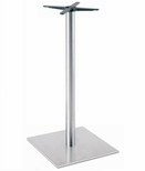 Brushed Stainless Steel 30'' x 42.5''H Square Table Base [5030-43-SS-PMI]