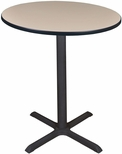 Cain 36'' Round Laminate Cafe Table with PVC Edge - Beige [TCB36RNDBE-FS-REG]