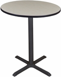 Cain 36'' Round Laminate Cafe Table with PVC Edge - Maple [TCB36RNDPL-FS-REG]