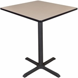 Cain 36'' Square Laminate Cafe Table with PVC Edge - Beige [TCB3636BE-FS-REG]
