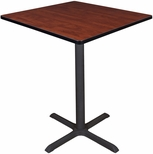 Cain 36'' Square Laminate Cafe Table with PVC Edge - Cherry [TCB3636CH-FS-REG]