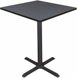 Cain 36'' Square Laminate Cafe Table with PVC Edge - Gray [TCB3636GY-FS-REG]
