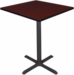 Cain 36'' Square Laminate Cafe Table with PVC Edge - Mahogany [TCB3636MH-FS-REG]