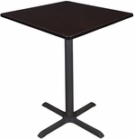 Cain 36'' Square Laminate Cafe Table with PVC Edge - Walnut [TCB3636MW-FS-REG]