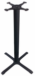4 Prong Cast Iron Bar Height Table Base with 22'' Base Spread [JI3-22TP12BH-JIB]