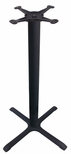 4 Prong Cast Iron Bar Height Table Base with 30'' Base Spread and 3''D Column [JI3-30TP12BH-JIB]