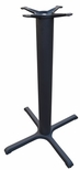 4 Prong Cast Iron Bar Height Table Base with 30'' Base Spread and 4''D Column [JI4-30TP12BH-JIB]