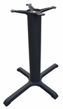 4 Prong Cast Iron Dining Height Table Base with 22'' x 30'' Base Spread and 4''D Column [JI4-2230TP12-JIB]