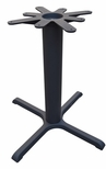 4 Prong Cast Iron Dining Height Table Base with 30'' Base Spread and 17'' Top Plate [JI4-30TP17-JIB]