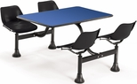 64.25'' D Cluster Table - Black Seat and Blue Laminate Top [1002-BLK-BLUE-MFO]