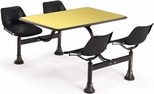 64.25'' D Cluster Table - Black Seat and Yellow Laminate Top [1002-BLK-YLW-MFO]