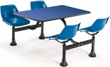 64.25'' D Cluster Table - Blue Seat and Blue Laminate Top [1002-BLUE-BLUE-MFO]