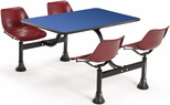 71'' D Cluster Table - Maroon Seat and Blue Laminate Top [1003-MRN-BLUE-MFO]