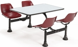 71'' D Cluster Table - Maroon Seat and Gray Nebula Laminate Top [1003-MRN-GRYNB-MFO]
