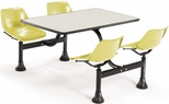 71'' D Cluster Table - Yellow Seat and Beige Nebula Laminate Top [1003-YLW-BGNB-MFO]