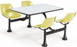 71'' D Cluster Table - Yellow Seat and Gray Nebula Laminate Top [1003-YLW-GRYNB-MFO]