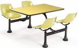 71'' D Cluster Table - Yellow Seat and Yellow Laminate Top [1003-YLW-YLW-MFO]