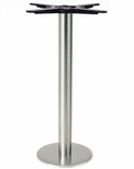 Brushed Stainless Steel 8'' x 28.375''H Bolt Down Round Table Base [4008-28-SS-PMI]