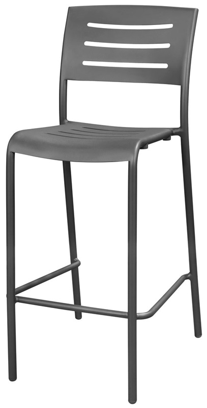 Adele Outdoor Aluminum Stackable Bar Armless Side Chair