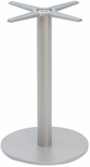 Aluminum 29''H Outdoor Round Table Base with 3'' Pole and 18'' Diameter Weighted Bottom - Silver [AAL-2400-18X3-SILVER-FLS]
