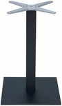 Aluminum 29''H Outdoor Table Base with 3'' Pole and 18'' x 18'' Square Weighted Bottom - Black [AL-2500-18X18X3-BLACK-FLS]