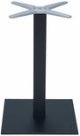 Aluminum 42''H Outdoor Bar Table Base with 3'' Pole and 18'' x 18'' Square Weighted Bottom - Black [AL-2500-18X18X3-BH-BLACK-FLS]