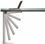 Aluminum Push-Button Set of 4 Foldable Table Legs with Mounting Hardware - 27.75''H [656-70-AO-PMI]