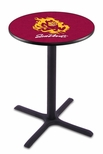 Arizona State University 36''H Black Wrinkle Finish Counter Height Pub Table with X-Base [L211B36ARIZST-FS-HOB]