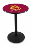 Arizona State University 36''H Black Wrinkle Finish Counter Height Pub Table with Round Base [L214B36ARIZST-FS-HOB]