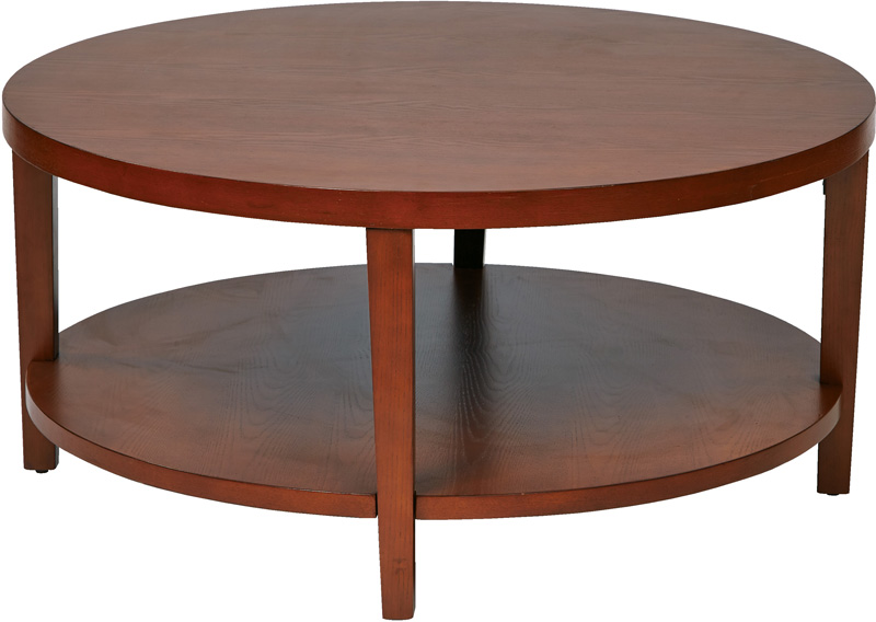 Ave Six Merge  Round Coffee Table with Solid Wood Legs