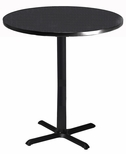 Bistro 30'' Round Bar Height Table with Black Cast Iron Base - Anthracite [CA30RHBTANT-FS-MAY]
