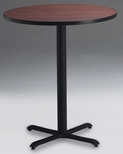 Bistro 30'' Round Bar Height Table with Black Cast Iron Base - Regal Mahogany [CA30RHBTRMH-FS-MAY]