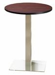 Bistro 30'' Round Bar Height Table with Stainless Steel Base - Regal Mahogany [CA30RHSTRMH-FS-MAY]