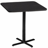 Bistro 30'' Square Bar Height Table with Black Cast Iron Base - Anthracite [CA30SHBTANT-FS-MAY]