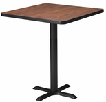 Bistro 30'' Square Bar Height Table with Black Cast Iron Base - Regal Mahogany and Black [CA30SHBTRMH-FS-MAY]