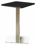 Bistro 30'' Square Bar Height Table with Stainless Steel Base - Anthracite [CA30SHSTANT-FS-MAY]