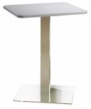 Bistro 30'' Square Bar Height Table with Stainless Steel Base - Folkstone [CA30SHSTFLK-FS-MAY]