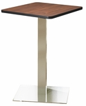 Bistro 30'' Square Bar Height Table with Stainless Steel Base - Regal Mahogany [CA30SHSTRMH-FS-MAY]