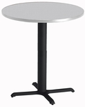 Bistro 36'' Round Bar Height Table with Black Cast Iron Base - Folkstone [CA36RHBTFLK-FS-MAY]