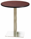 Bistro 36'' Round Bar Height Table with Stainless Steel Base - Regal Mahogany [CA36RHSTRMH-FS-MAY]