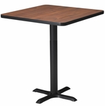 Bistro 36'' Square Bar Height Table with Black Cast Iron Base - Regal Mahogany [CA36SHBTRMH-FS-MAY]