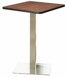 Bistro 36'' Square Bar Height Table with Stainless Steel Base - Regal Mahogany [CA36SHSTRMH-FS-MAY]