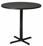 Bistro 42'' Round Bar Height Table with Black Cast Iron Base - Anthracite [CA42RHBTANT-FS-MAY]