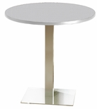 Bistro 42'' Round Bar Height Table with Stainless Steel Base - Folkstone [CA42RHSTFLK-FS-MAY]