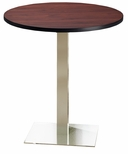 Bistro 42'' Round Bar Height Table with Stainless Steel Base - Regal Mahogany [CA42RHSTRMH-FS-MAY]