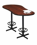 Bistro 72'' Peanut Bar Height Table with Black Cast Iron Base - Regal Mahogany [CA2PHTRMH-FS-MAY]