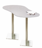 Bistro 72'' Peanut Bar Height Table with Stainless Steel Base - Folkstone [CA3PHTFLK-FS-MAY]