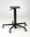 Black Matte Adjustable 30'' Five Spoke Lift Base With Casters and Hand Lever [691-1030-BLK-PMI]