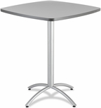 CafeWorks Bistro 36'' Square Table - Gray [65631-ICE]