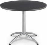 CafeWorks Cafe 36'' Round Table - Graphite Granite [65628-ICE]